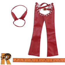 Sexy Cowgirl - Pants & Bikini Top (Red) - 1/6 Scale - Super Duck Action Figure