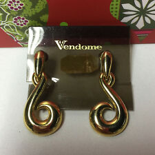 VENDOME VINTAGE GOLD DROP EARRINGS