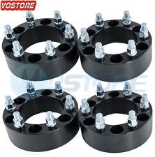 "(4) 2"" Black Wheel Spacers Adapters 6x5.5 fits Chevy Silverado 1500 Suburban GMC"