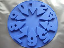 Silicone Mould Numbers 0-9-Birthday Cake,Chocolate 19 cm Round-Sugar Paste
