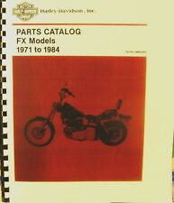 1971-1984 Harley-Davidson Parts Catalog FX Models #99455-83C FSH