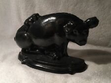 VINTAGE HEAVY CAST IRON PIG DOOR STOP