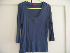 Monsoon grey t-shirt top with 3/4 sleeves and scoop neck size 12.