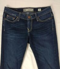 BKE Denim Payton Women's Size 26 Dark Distressed Wash Blue Jeans RN#75720