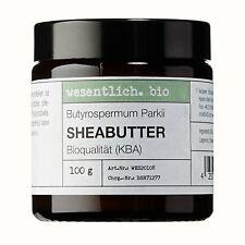 Sheabutter BIO 100g von wesentlich. - natürlich im Glastiegel - 100% reines Natu