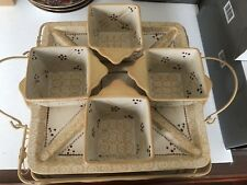 Temp-tations Presentable Ovenware By Tara Old World 6 Piece Set W/Metal Holder