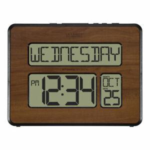 La Crosse Technology Atomic Digital Calendar Clock - Black/Brown (513-1419-WA-I…