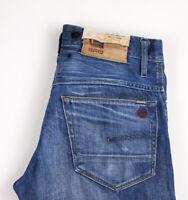 G-Star Brut Hommes 3301 Armée Original Jeans Jambe Droite Taille W31 L30 ASZ348