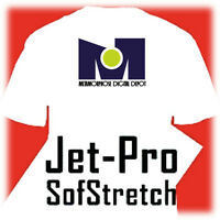 "JET PRO SOFSTRETCH INKJET HEAT IRON ON TRANSFER PAPER 8.5 X 11"" - 25 SHEETS"