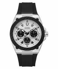 GUESS  W1049G3 Legacy Quartz White Dial Black Rubber Men's Watch
