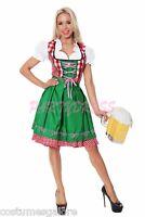 Ladies Costume Fancy Dress Up (8001) Oktoberfest German Heidi Beer Maid  Sz 6-16