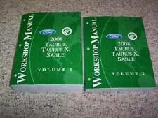 2008 Ford Taurus & X Shop Service Repair Manual SEL Limited Eddie Bauer AWD V6