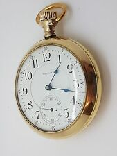 Waltham 18 Size Vanguard 21 Jewel Made in 1900 Beautiful Dial & Hands  10A