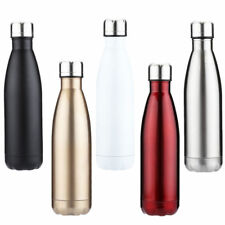 New Vacuum Flask Double Wall Stainless Steel Insulated Water Bottle Drinks