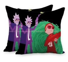 Set of 2 trippy psychedelic rick morty cushion cover decorative cushion covers