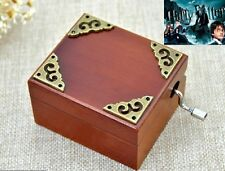 Vintage Square Hand Crank Music Box : Harry Potter Hedwigs Theme
