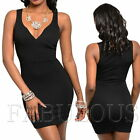 New Sexy Mini Dress Party Evening Clubbing Going Out Size 2 4 6 8 10 XS S M