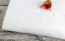 """Light Ivory Cream Floral Embroidery Cotton Eyelet Lace Fabric (59"""" Width) —— ½ M"""