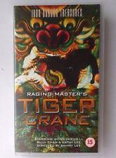 RAGING MASTER'S TIGER CRANE VIDEO VHS 2002 77 MINS KUNG FU WONG CHENG LI