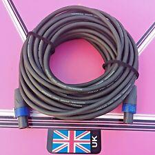 20 x meter  speakon - speakon  speaker lead cable heavy duty 2.5mm cores neutrik