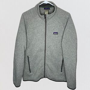 Patagonia Better Sweater Fleece Full Zip Jacket Birch Grey Heathered Mens Medium