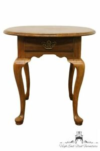 KLING FURNITURE Solid Cherry Queen Anne Oval Accent End Table 18-0483