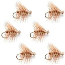 Elk Hair Caddis Tan Trout Fly Fishing Flies 6 Flies Hook Size 18 - Anglers Gift