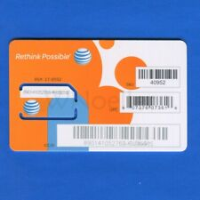 New Unactivated At&T Full Size (mini) Sim Card Sku 40952