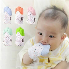 Baby Silicone Mitts Teething Mitten Health Beauty Brush Teether Toy Cute