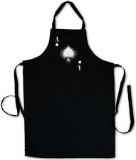 ACE OF SPADES IV BBQ COOKING KITCHEN APRON - Spade Ace Poker Card Casino Pik