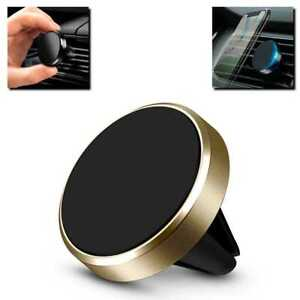 Mini Soporte Magnético de Coche para Teléfono Móvil Rejilla Ventilación Imán Oro