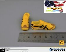 """1/6 male yellow sneakers kungfu for 12"""" figure hot toys bruce lee ganghood ❶USA❶"""