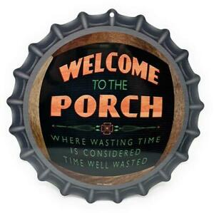 """WELCOME To The PORCH Where Wasting Time Is Considered Time Well Wasted 12"""" Sign"""
