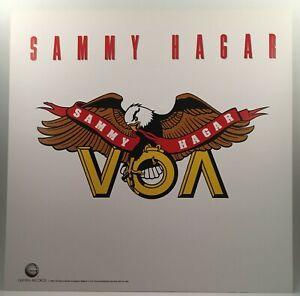 """SAMMY HAGAR VOA 1984 Geffen promo poster flat 12""""X12"""" Excellent Condit Van Halen"""