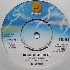 "SYLVESTER - Dance (Disco Heat) - Excellent Condition 7"" Single Fantasy FTC 163"