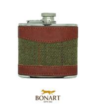 Bonart 114ml Tweed Hüfte Flasche - grün orange lila Geschenk Whisky