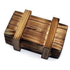 Single Open Magic Brain Teaser Puzzle Secret Wood Box IQ Test Game Cash Lock Toy