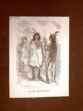 Indiani Mandan o Mandani nel 1883 Nord America
