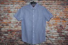 Ben Sherman Men's Shirt Short Sleeve Size L Blue White Striped