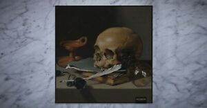 Jacques Marie Mage Vanitas Skull Feathers Cleaning Cloth Limited Edition Of 200