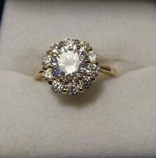 Bague T54 à T62 Princesse Marquise Diamant Cz 14 mm Plaqué Or 18K Dolly-Bijoux
