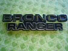 78-79 Ford Bronco Ranger Name Plate for Cowling D8TZ-16720-B