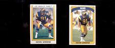 1989-90 Panini KEVEN GREENE Los Angeles Rams Sticker Card Lot