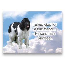 Landseer True Friend From God Fridge Magnet New Dog