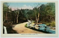 Postcard Ilion NY View Of The Gorge Car Dirt Road Nolan & Prince 1910's 1920's