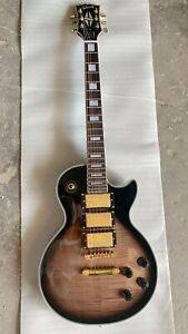 Custom Shop LP Brown Cobra Flame Top Color Electric Guitar