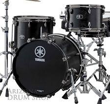 Yamaha Live Custom Oak 3pc Shell Pack, Black Wood Matte Finish 10/14/18, BLOWOUT