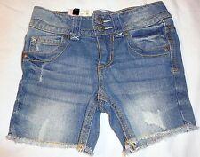 Girls Arizona frayed Shorts Jeans Midi Pants adjust Waist 4 5 Slim Stretch NWT
