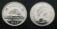 Canada 1988 Proof Like Gem Five Cent Nickel!!