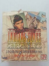 Lot of 1992 Pro Set The Young Indiana Jones Chronicles Trading Card Packs 540